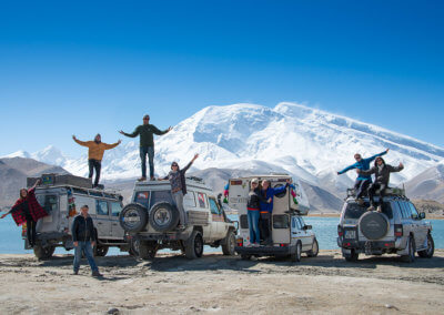 Our China crossing group at Lake Karakul