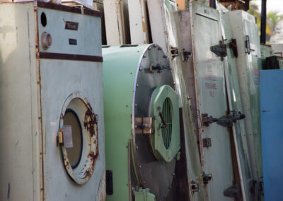 washing machines and doors in alang ship wrecking plant