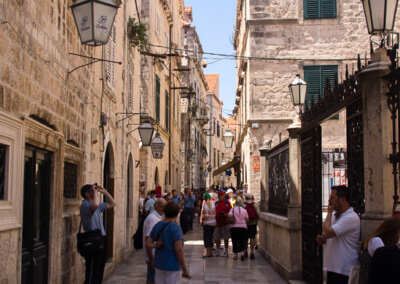 Inside old town of Dubrovnik