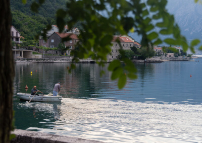 Traditional fishing in the Bay of Kotor.