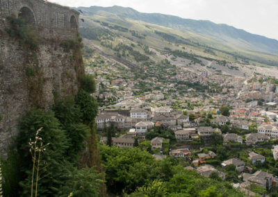 Gjirokastër seen from the fortress