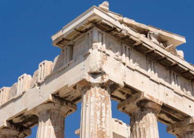 Acropolis in sightseeing Athens