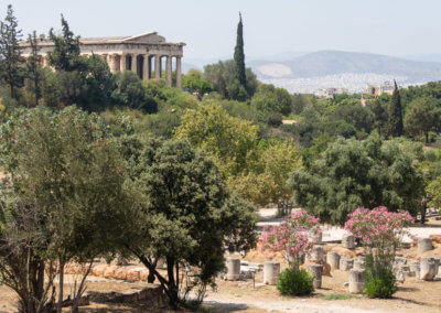 Ancient Agora in sightseeing Athens