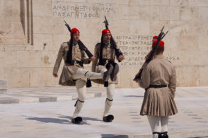 Guard change in sightseeing Athens