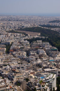 View from Lycabettus in sightseeing Athens