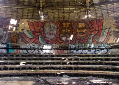 Buzludzha's main assembly hall.