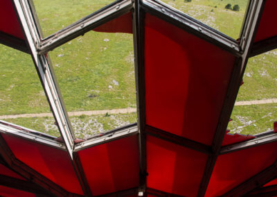 Look through the tower's red star at Buzludzha