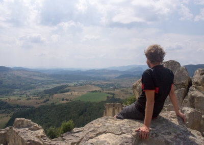 Heiner overlooking the scenery at Perperikon