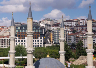 mosque in Miniatürk while sightseeing Istanbul
