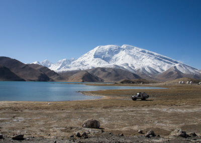 Willie at Lake Karakul in Xinjiang.