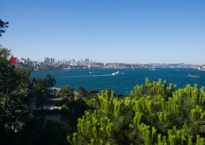 View to the Bosporus from the Topkapi Palace