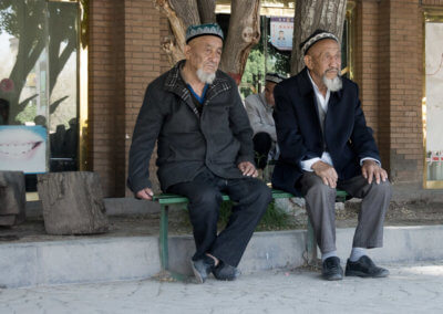 Two old Uygurs in Kashgar