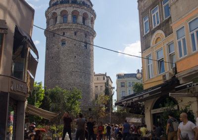 The Galata Tower in the district of Karaköy