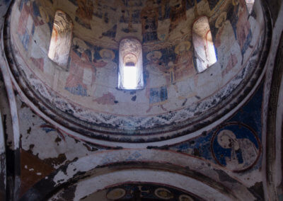 Frescoes in a church