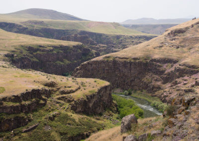 The gorge as border to Armenia