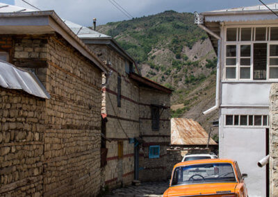 The old copper smith lane in Lahic