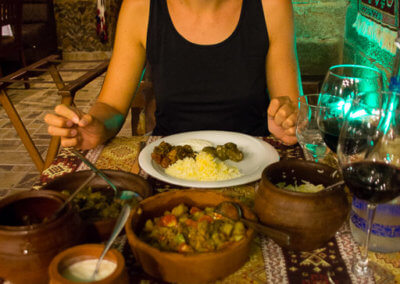 Anna and good Azeri food