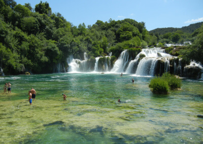 Natural swimming pool in Krka