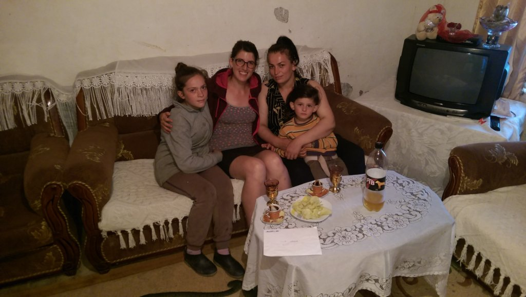 Anna and an Albanian family