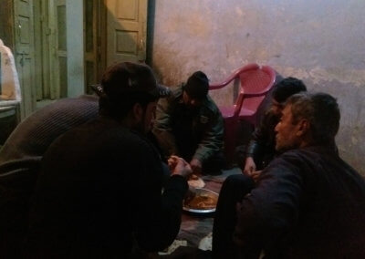Dinner in the Balochistan Levies compound in Taftan at the Iran Pakistan border