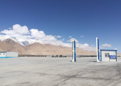 Customs parking lot in Tashkurgan