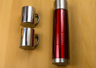 Cups and Thermos bottle