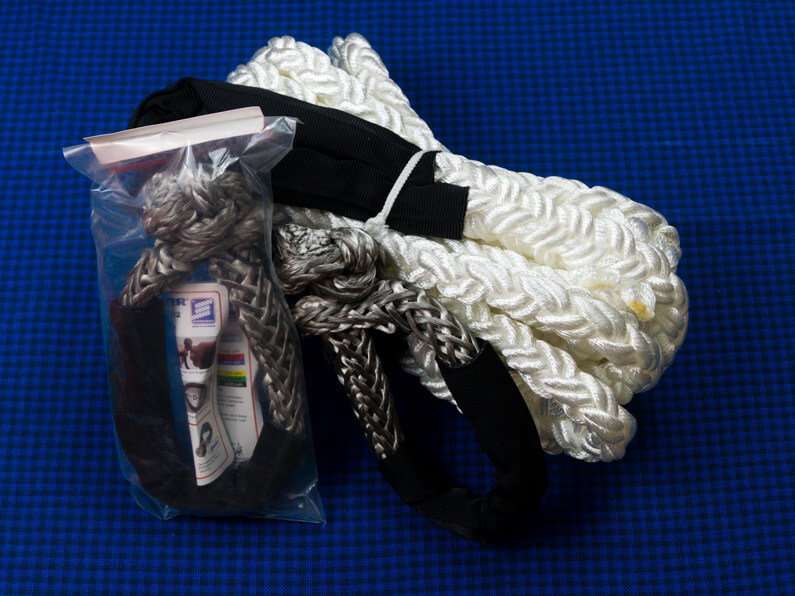 Rescue ropes and shackles